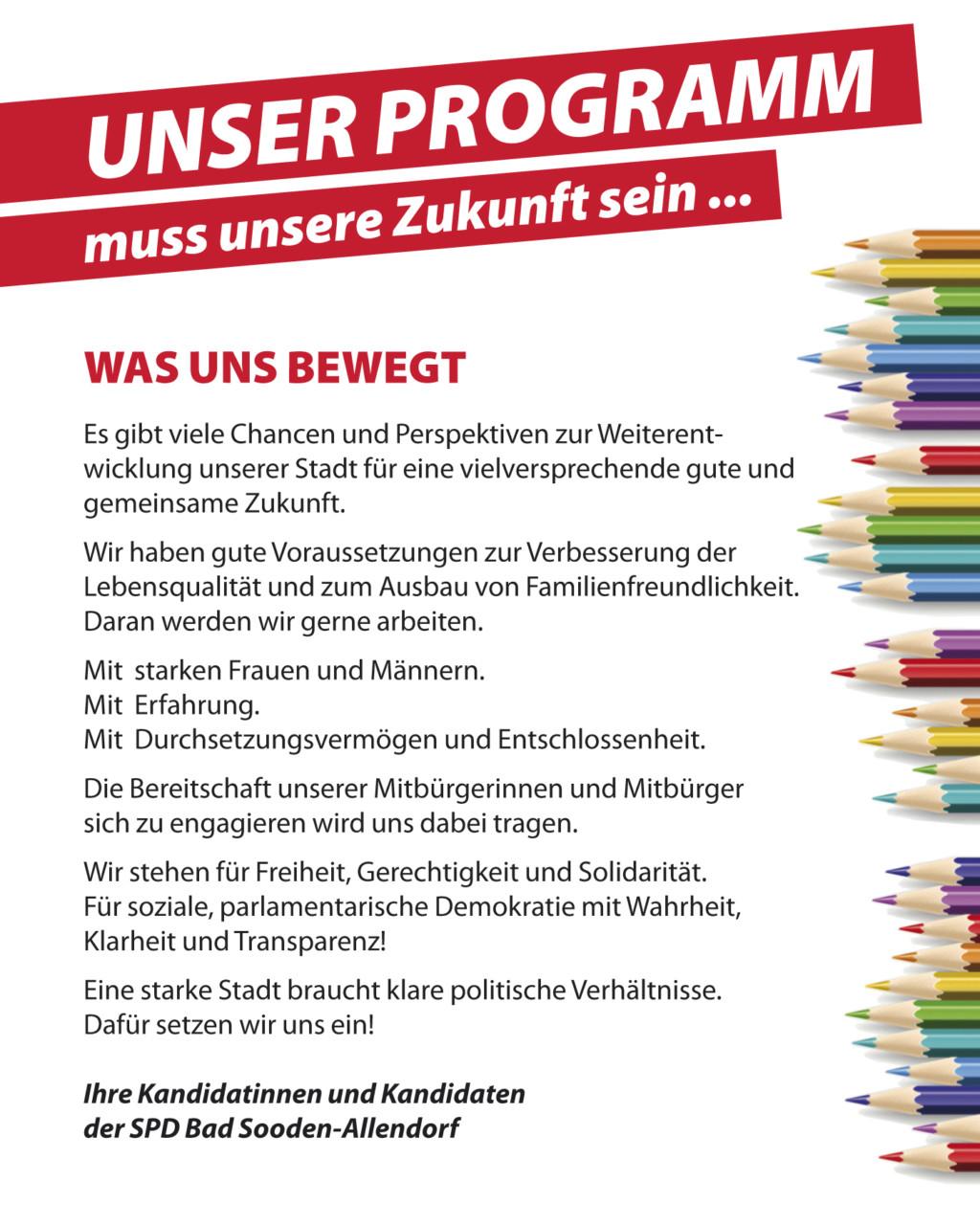 SPD BSA Wahlprogramm 2